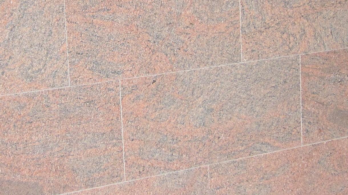 MULTICOLOR RED, Bodenplatten, geflammt, 35 x freie Längen x 2 cm