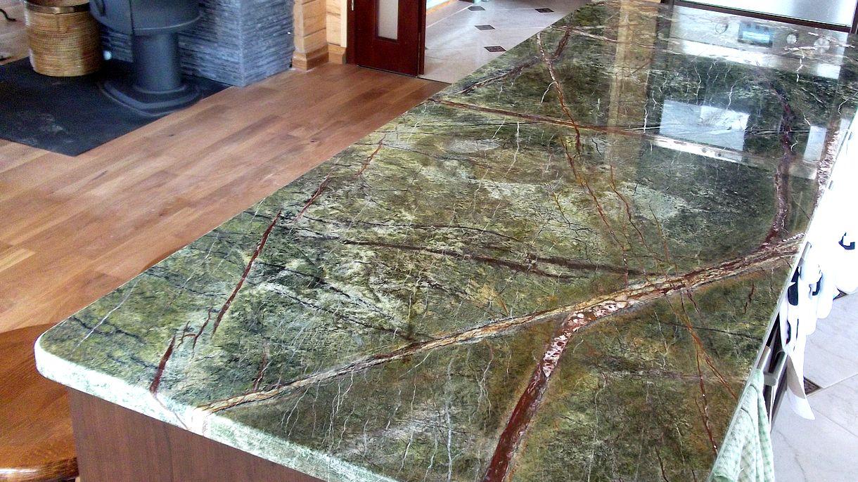 RAINFOREST GREEN, Küchenarbeitsplatten, poliert