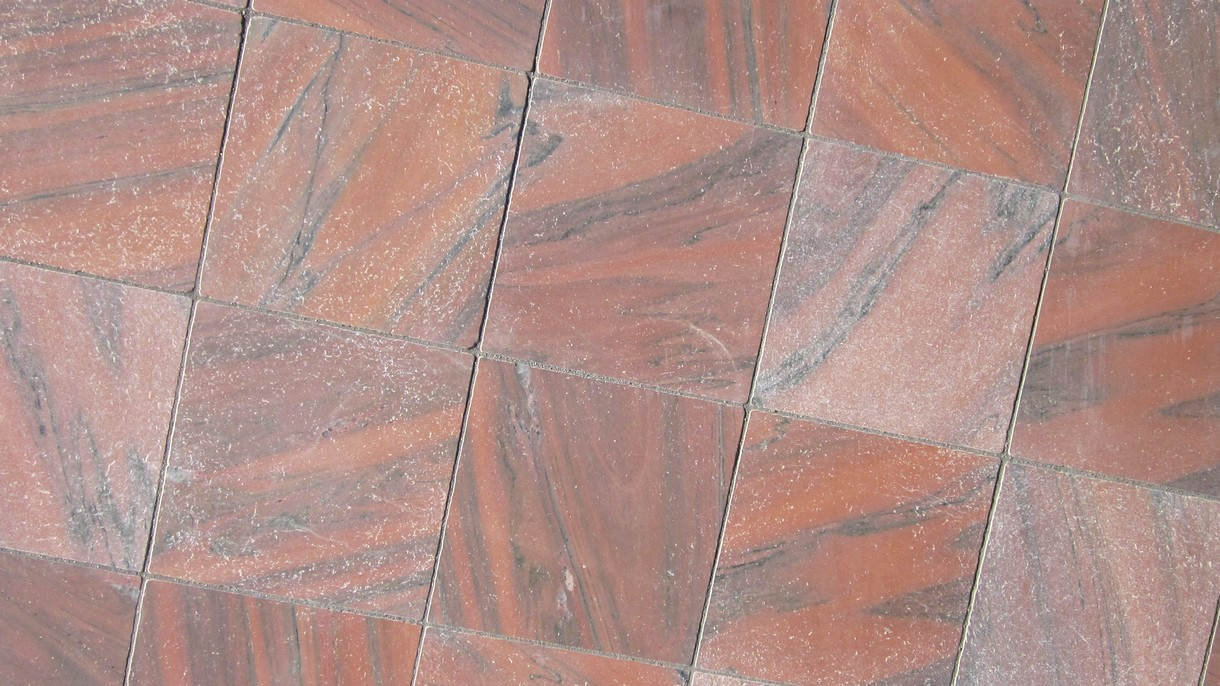 RED CLASSIC ANTIQUE, Bodenplatten, geschliffen und getrommelt, 60 x 60 x 2 cm