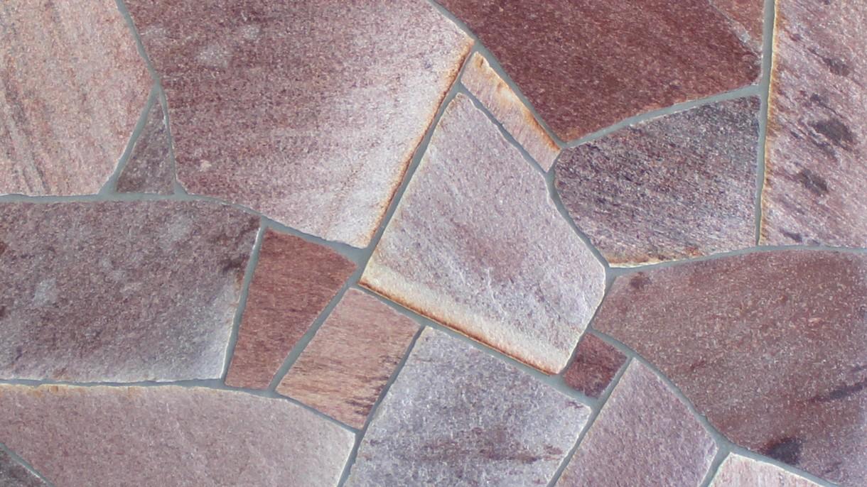 RODURAS, Polygonalplatten, gespalten, Normalformat mittel x 1-3 cm