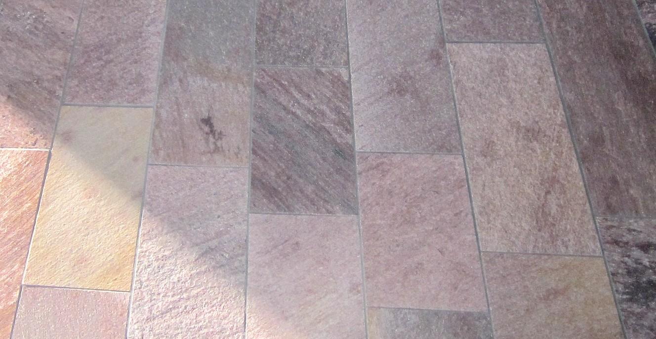 RODURAS, Bodenplatten, gespalten mit gesägten Kanten, 30 x freie Längen x 2,5-3,5 cm