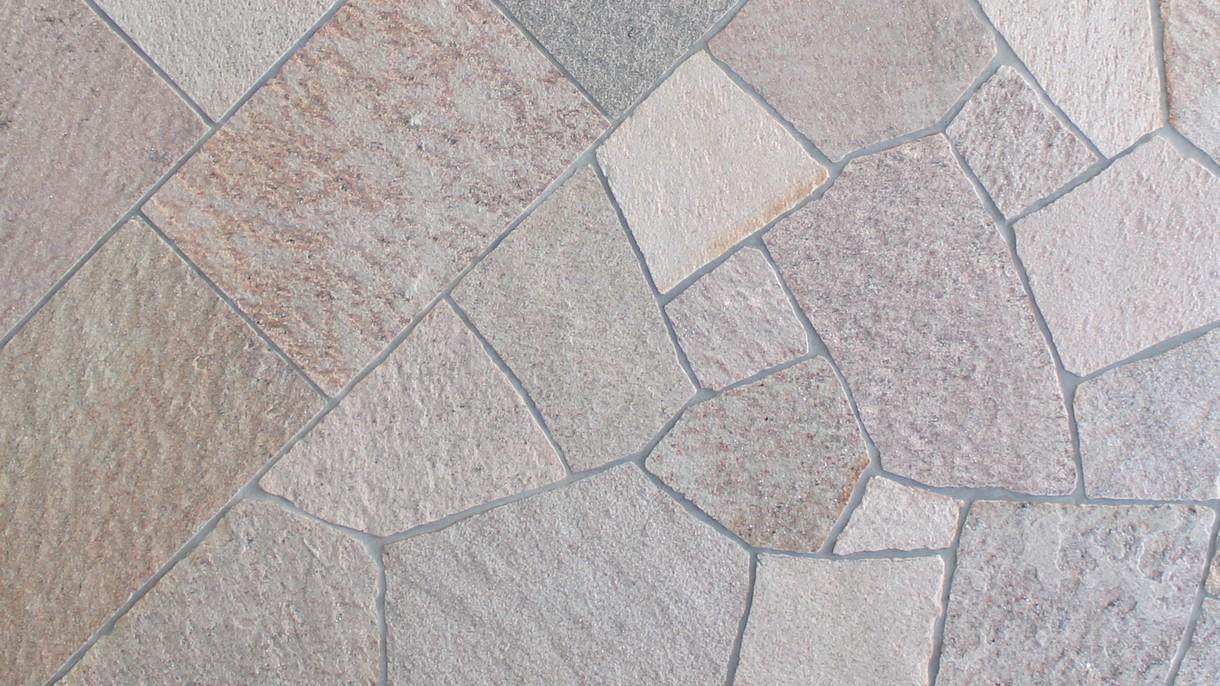 SA-NL-QUARZIT, Polygonalplatten, gespalten, Normalformat mittel x 1,5-3 cm