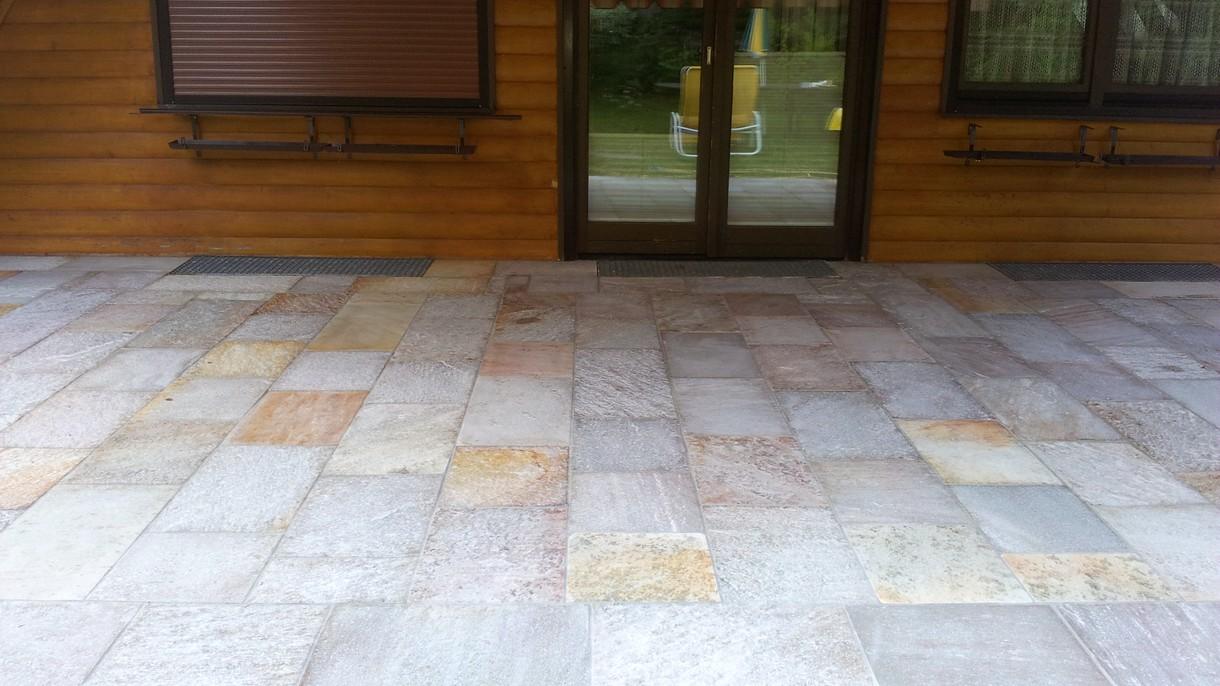 SOLEADO SG, Bodenplatten, gespalten mit gesägten Kanten, 35 x freie Längen x 3-5 cm