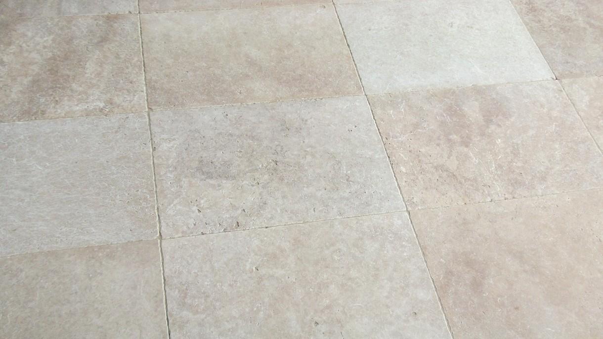 TRAVERTIN CLASSIC LIGHT, Bodenplatten, getrommelt, 61 x 40,6 x 1,2 cm